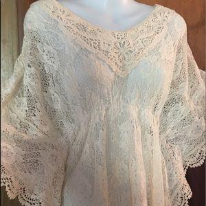 La vain  lace blouse size medium cream color